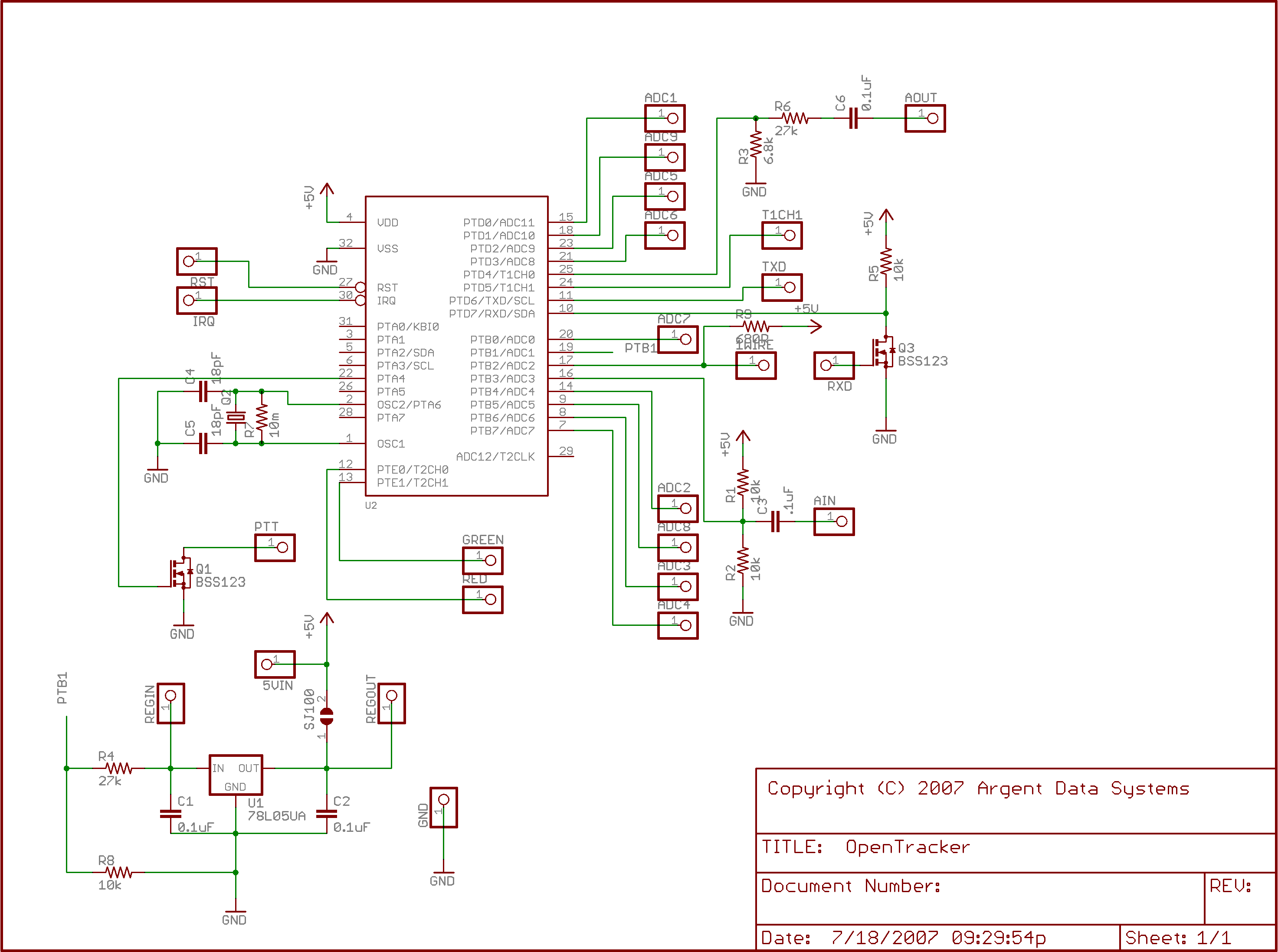 Opentracker Argent Data Systems Db9 Pinout Bose Wiring Diagram Smt V10 Schematic